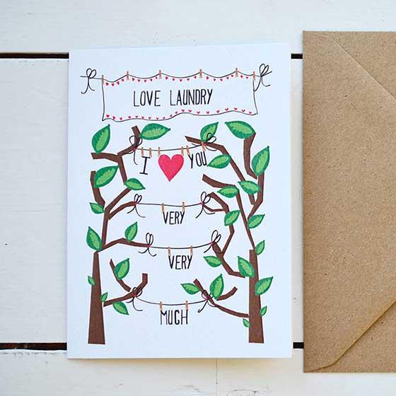 可愛い手書きイラストのウェディングカード